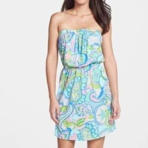 Lilly Pulitzer Windsor Strapless Pull-On Dress XS
